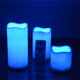 Precio barato de las velas sin llama redondas del LED