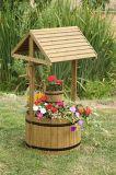 Патио плантатора сада желая хорошее классицистическое украшение растет цветок завода