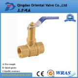 Vávula de bola de cobre amarillo aprisa conectada de la alta calidad ISO228 pulgada de 1 - del 1/2 para el agua