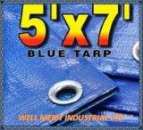 5 ' x7 Lichtgewicht Blauwe Tarp