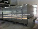 Equipamento de congelação rápida do túnel para o papa de aveia do pão dos bolinhos de massa do camarão dos peixes