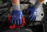 Голубая перчатка работы безопасности с нитрилом Dopping (ND6516)