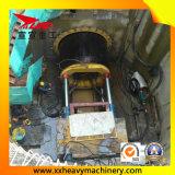 aléseuse arquée mise sur cric par 1500mm de tunnel