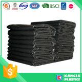 Bolso de basura negro del HDPE en el rodillo en el precio de fábrica