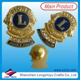 Insigne en Métal Émail de Pin Doux, Insigne en Alliage de Zinc de Médaille d'Or (LZY-1000069)