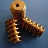 Eixo, sem-fim e eixo de aço feitos à máquina precisão de engrenagem do sem-fim