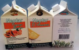 Material de embalagem de Mini 500ml Juice Gable Top Carton