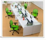 現代オフィスのガラス区分のキュービクルワークステーション家具