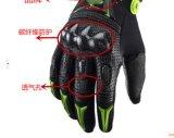 Guanto di cuoio del motociclo di Fullfinger dei guanti di cuoio