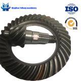 BS5074 고품질 트럭 부속 뒤 축 나선형 비스듬한 기어는 주문을 받아서 만들어진 나선형 기어일 수 있다