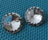pierre de fantaisie en cristal de dos de point de 10mm 12mm Rivoli