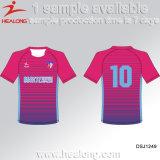 Healong 100% Polyester sublimé Strip uniforme de soccer