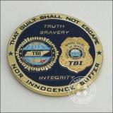 Médaille en plaqué or, deux côtés de la conception organisationnelle Coin (GZHY-d'un insigne-077)