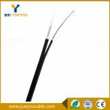 Cable óptico unimodal inoxidable 2fibres del alambre de acero para la transmisión