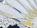 Vaisselle plate en gros d'or réglée/vaisselle réglée/jeu de couverts
