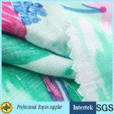 夏のドレッシングのための60s明白な織り方の粗紡糸のレーヨンファブリック