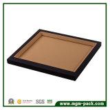 高品質PUの革か木の黒い宝石類の表示皿