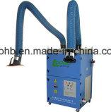 Extrator de fumo de solda com capô de extração para cabine de soldagem