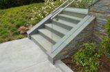 trilhos do vidro Tempered de 10-19mm com canaleta baixa de alumínio encaixada de U/canaleta de vitrificação de alumínio