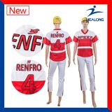 O uniforme feito sob encomenda Sublimated o desgaste do esporte de Jersey do basebol