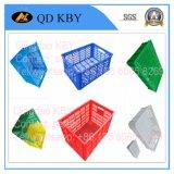 Caisse en plastique pure de la qualité K288 avec la couverture pour le finissage marin, traitement de fruits de mer