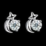 925 순은 소녀를 위한 아름다운 귀 장식 못 디자인 귀걸이