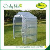 Invernadero económico plegable blanco de las gradas de Onlylife 3 mini
