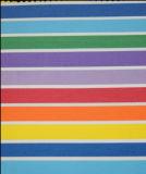 Folha do arco-íris com linhas de cor