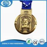 Kundenspezifische Zink-Legierungs-harte Decklack-Medaille für Andenken