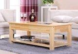 固体マツ木机の現代机の居間の机の茶表の方法茶表の引出しの茶表(M-X2036)
