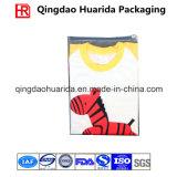 Großverkauf passte gedruckten transparenten Plastikkleid-Beutel mit Reißverschluss-Oberseite an