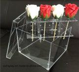 Rectángulo de acrílico elegante de Rose del rectángulo de la flor