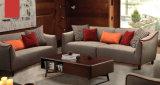 Mobília de interior estilo norte da Europa, sofá de tecido de design simples (M610)