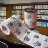 Fournisseur estampé drôle de rouleau de papier hygiénique de la Chine
