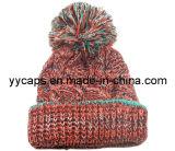 POM POM (YYCM-120365)를 가진 뜨개질을 한 모자 베레모