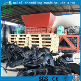 Double défibreur durable d'arbres pour la réutilisation de rebut de pneu/caoutchouc/cuisine/déchets municipaux/os/plastique animaux