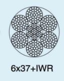 Ungalvanized 철강선 밧줄 6X37+Sc