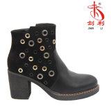 여자 형식 리베트 좋은 품질 탄력 있는 PU 발목 시동 (AB631)