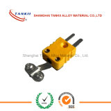 K-Thermoelementstecker und Umhüllungenverbinder mit gelber Farbe schreiben
