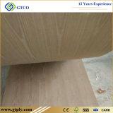 madera contrachapada de la ceniza de la teca del roble rojo del espesor de 3m m