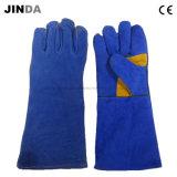 Кожаный Cowhide сварки промышленных перчатки (L007)