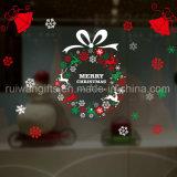 El vinilo estático se aferra las etiquetas engomadas de las etiquetas, etiqueta engomada de la decoración de la Navidad