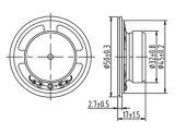 50mmの拡声器の外部磁石のスピーカーDxyd50W-32z-8A