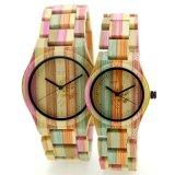 주문 남자의 석영 손목 시계, 한 쌍을%s 대나무 손목 시계