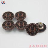 ロゴのデニムのためのカスタム銅の真鍮の合金の金属のジーンズボタン