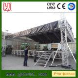 Fardo de alumínio do estágio, sistema do fardo do telhado do estágio ao ar livre