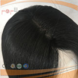 Largo cabello humano pleno encaje peluca (PPG-L-06127)