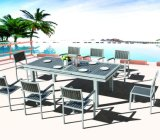 Jardin patio Outdoor Hotel Office Accueil Polywood 206x100cm Table à manger (J7306)