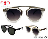 2015 Óculos de sol de alta qualidade para senhoras de plástico com decoração em metal (WSP508308)