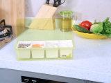 Articolo da cucina del contenitore del vaso & del condimento della spezia delle 6303 plastiche & della casella del condimento